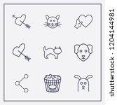 outline 9 lovely icon set. dog  ... | Shutterstock .eps vector #1204144981