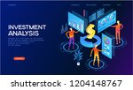 investment analysis concept.... | Shutterstock .eps vector #1204148767