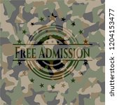 free admission camouflage emblem | Shutterstock .eps vector #1204153477