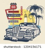 california typography for t... | Shutterstock .eps vector #1204156171