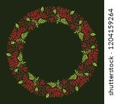 christmas hand drawn wreath... | Shutterstock .eps vector #1204159264
