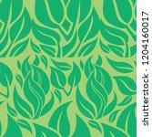 vector seamless floral pattern... | Shutterstock .eps vector #1204160017