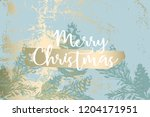 christmas tree cone painting... | Shutterstock .eps vector #1204171951