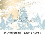 trendy chic pastel colored... | Shutterstock .eps vector #1204171957