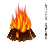 bonfire icon. realistic... | Shutterstock .eps vector #1204173334