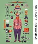 hipster info graphic background ... | Shutterstock .eps vector #120417409