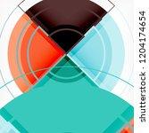 creative circles geometric...   Shutterstock .eps vector #1204174654