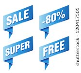 various discount tags and labels   Shutterstock .eps vector #120417505