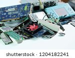 pile of electronic waste ... | Shutterstock . vector #1204182241