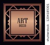 art deco border and frame....   Shutterstock .eps vector #1204185301
