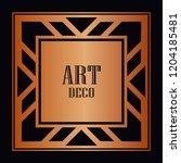 vintage retro style invitation...   Shutterstock .eps vector #1204185481