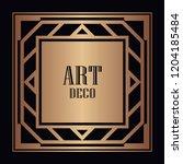 vintage retro style invitation...   Shutterstock .eps vector #1204185484