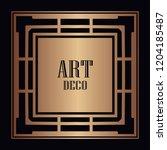 vintage retro style invitation...   Shutterstock .eps vector #1204185487