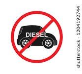 illustration diesel ban traffic ... | Shutterstock .eps vector #1204192744