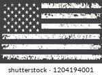 grunge american flag.vector old ... | Shutterstock .eps vector #1204194001