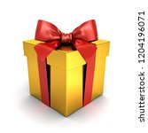 gold gift box or present box... | Shutterstock . vector #1204196071