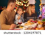 happy family having christmas... | Shutterstock . vector #1204197871