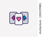 vector illustration of playing... | Shutterstock .eps vector #1204199881