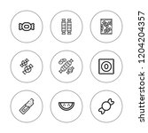 taffy icon set. collection of 9 ... | Shutterstock .eps vector #1204204357