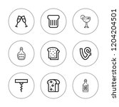 wineglass icon set. collection... | Shutterstock .eps vector #1204204501