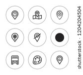 gray icon set. collection of 9...