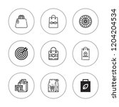 shopper icon set. collection of ... | Shutterstock .eps vector #1204204534