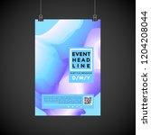 vector vibrant gradient colors... | Shutterstock .eps vector #1204208044