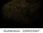 gold glitter texture isolated... | Shutterstock . vector #1204213267