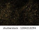 gold glitter texture isolated... | Shutterstock . vector #1204213294