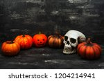halloween concept with a... | Shutterstock . vector #1204214941
