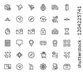 delivery flat icon set . single ...   Shutterstock .eps vector #1204225741