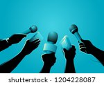 vector illustration of hands... | Shutterstock .eps vector #1204228087