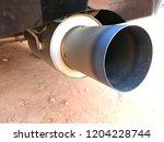 titanium exhaust pipe   Shutterstock . vector #1204228744
