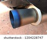 titanium exhaust pipe   Shutterstock . vector #1204228747