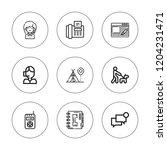 communicate icon set....   Shutterstock .eps vector #1204231471