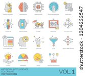 artificial intelligence icons... | Shutterstock .eps vector #1204233547