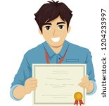 illustration of a teenage guy... | Shutterstock .eps vector #1204233997