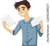 illustration of a teenage guy... | Shutterstock .eps vector #1204234027