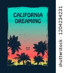 california surfer tee graphic.... | Shutterstock .eps vector #1204234231