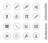 craft icon set. collection of... | Shutterstock .eps vector #1204234594