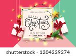 vector merry christmas and... | Shutterstock .eps vector #1204239274