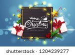 vector merry christmas and... | Shutterstock .eps vector #1204239277
