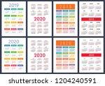 calendar 2019  2020 years.... | Shutterstock .eps vector #1204240591