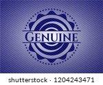 genuine badge with jean texture | Shutterstock .eps vector #1204243471