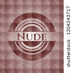 nude red seamless badge with... | Shutterstock .eps vector #1204243717