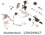 hand drawn set of sepia colored ...   Shutterstock .eps vector #1204244617