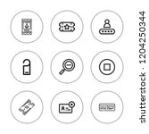 entry icon set. collection of 9 ... | Shutterstock .eps vector #1204250344