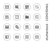appointment icon set.... | Shutterstock .eps vector #1204250461
