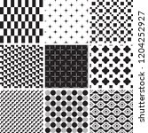 set of geometric seamless... | Shutterstock .eps vector #1204252927