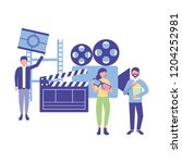 people production movie film... | Shutterstock .eps vector #1204252981